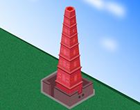 Manora Minar - Isometric Illustration