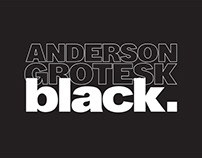 ANDERSON GROTESK BLACK | Free extrabold typeface