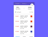 App- Flight Booking Motion Effects