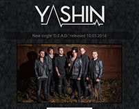 Landing page for the rock band Yashin.