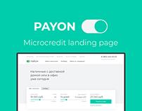 PAYON — Credit company landing page