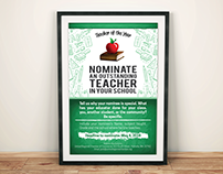 Teacher of the Year Nomination Poster