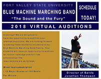 Fort Valley State University Audition Advertisement.