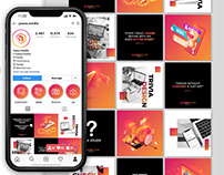 Instagram Feed Layout Design, Post, Story
