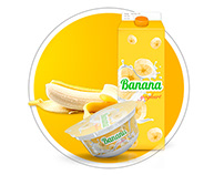 Banana yoghurt packaging