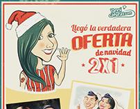 Oferta de Navidad en Yannicaturas.