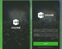 Chune - Login And Splash Screen