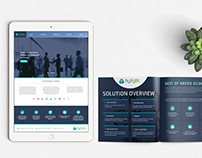 Hylight platform UI, branding and brochure