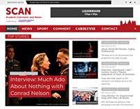 WordPress web design for SCAN newspaper