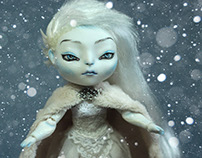 """Lady Ice. Water Spirit."" OOAK Ball Jointed Doll"