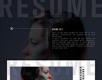 CV / Resume 2017 - Webdesign & Art direction