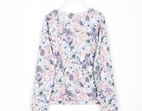 LEFTIES Floral Fleece Sweatshirt SS 15