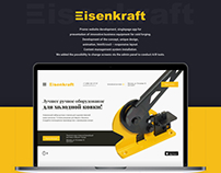 Design for Promo website by Polyarix web studio