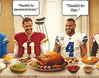 Thanksgiving graphic for Bleacher Report