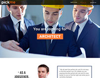 pickme website design for landing page and homepage