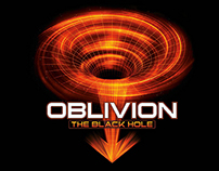 Oblivion The Black Hole Logo and Identity - Gardaland
