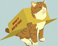 Ilustraciones de Gatos / Cat in boxes Illustrations