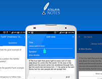 Atalaya Notes mobile app