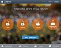 Social network for professional sportsmen