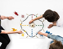 Board game for blind and visually impaired people