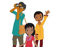 Personagens - As aventuras nas Sundarbans