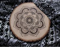 Woodurned Mandala Design