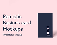 Peue - Realistic Business Card Mockup