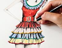 Mc Queen Cowgirl Fashion Illustration