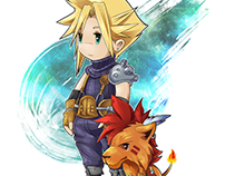 Final Fantasy VII : Cloud Strife and Red XIII / Nanaki