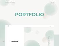 UX/UI Portfolio Website Design 2021