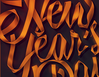 New Year's Day 2016 Lettering