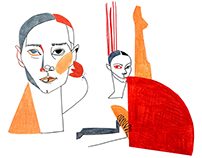 Illustrations for BALLETRISTIC magazine