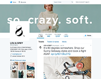 Lou & Grey Social Media banners