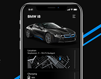 [WIP]BMW car control app - concept art