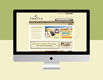 Fratta Magento Home Page & Category Page Design