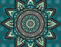 Gray Green Mandala