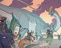 Brachiosaurus hunting