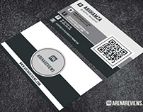 Free Modern Black & White Minimalist Business Card