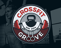Crossfit Groove Gym Logo design
