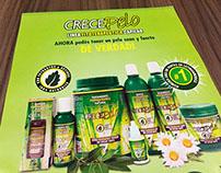 Crecepelo promotional brochures