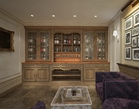 Whiskey room in hotel