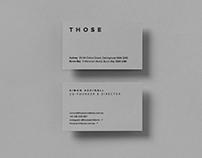 Those Architects — Brand Identity