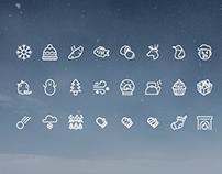 four seasons, winter icons