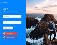 Concept UI/UX Design Website Login Screen