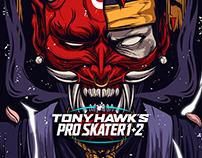 Deck Illustration design - Tony Hawk Pro Skater 1+2