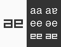 Typographical letter exploration of 'ae'