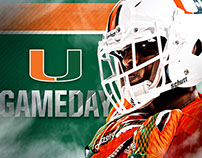 Miami Hurricanes Gameday Social Media Graphics