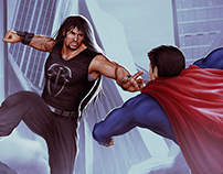 Roman Reigns Vs. Superman