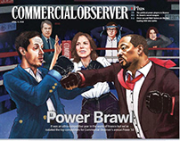 Cover Illustration | Commercial Observer | Power Brawl