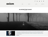 Axiom Simple Blog Website Concept